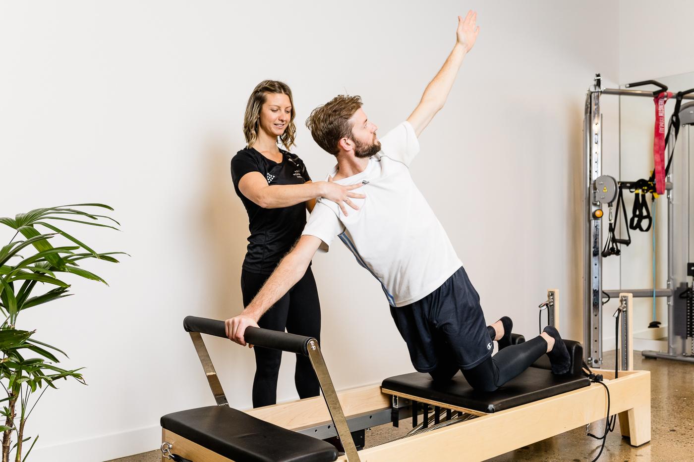 clinical pilates shoulder rotations