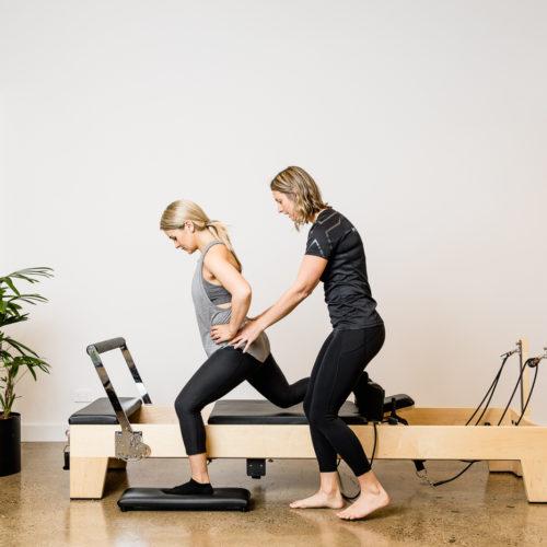 clinical pilates hip rotations