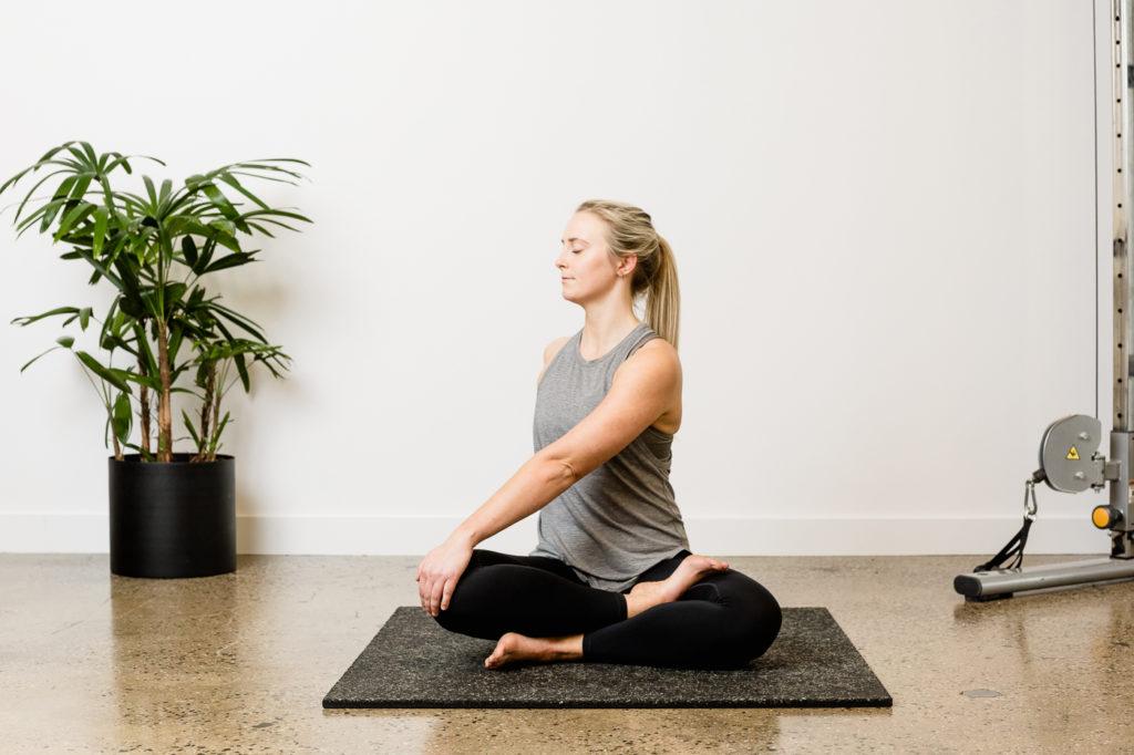 pilates stretch woman
